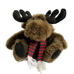 "Cherrydale Farms Moose Plush Christmas Holiday 7"""